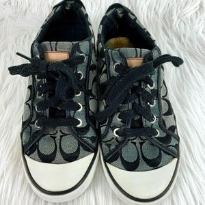 Coach Barrett Sneakers Signature Print Black 8